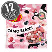 Pink Camo Bean Jelly Beans - 3.5 oz Bag - 12 Count Case