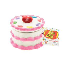 Birthday Cake Candy Dish with Birthday Cake Jelly Beans