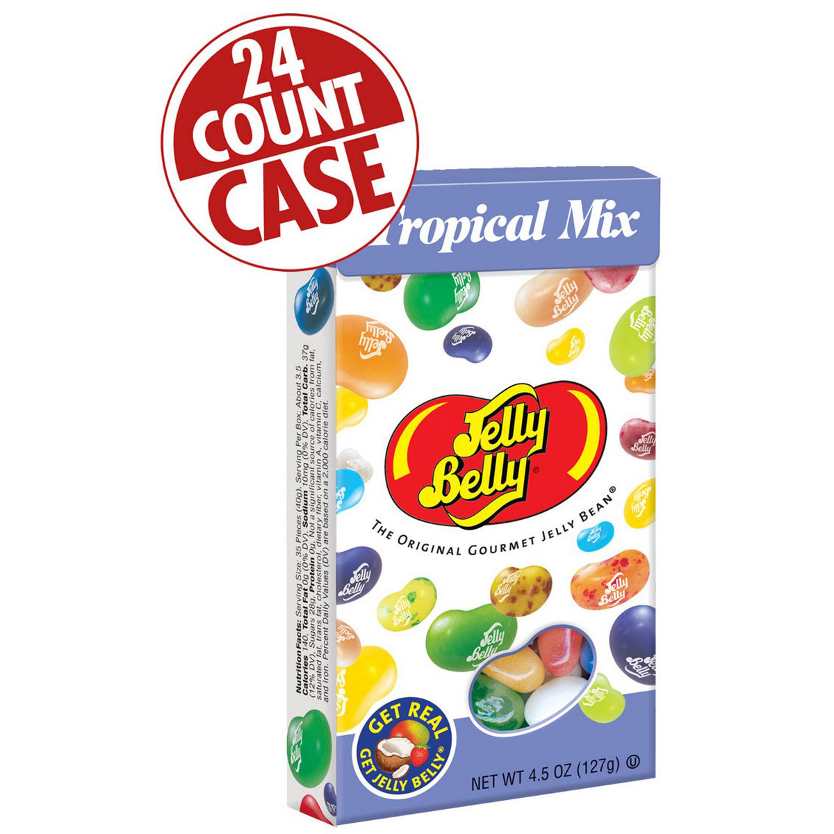 Tropical Mix Jelly Beans - 4.5 oz Flip-Top Boxes - 24-Count Case