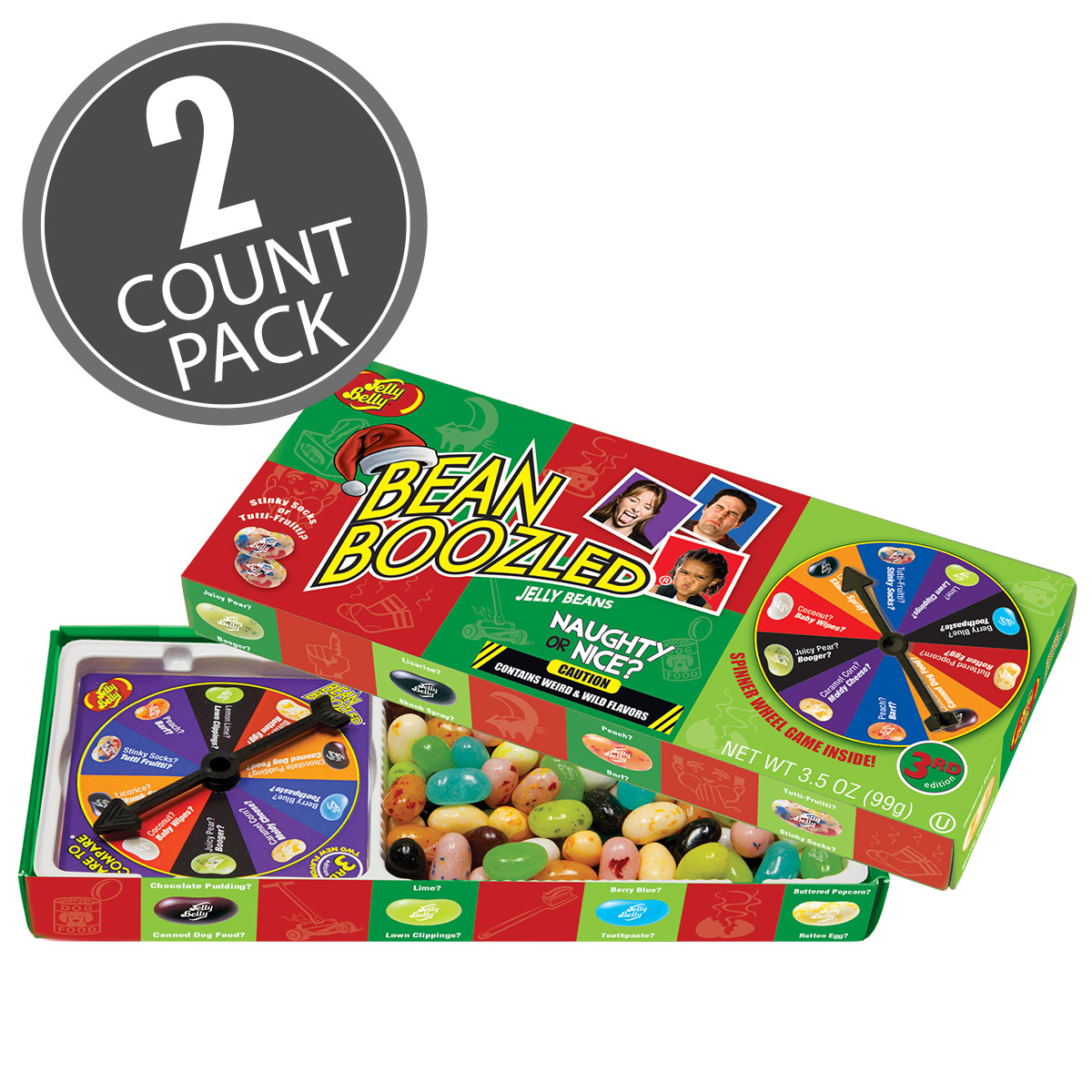 BeanBoozled Naughty or Nice Spinner Jelly Bean Gift Box - 3.5 oz Box - 2 Pack