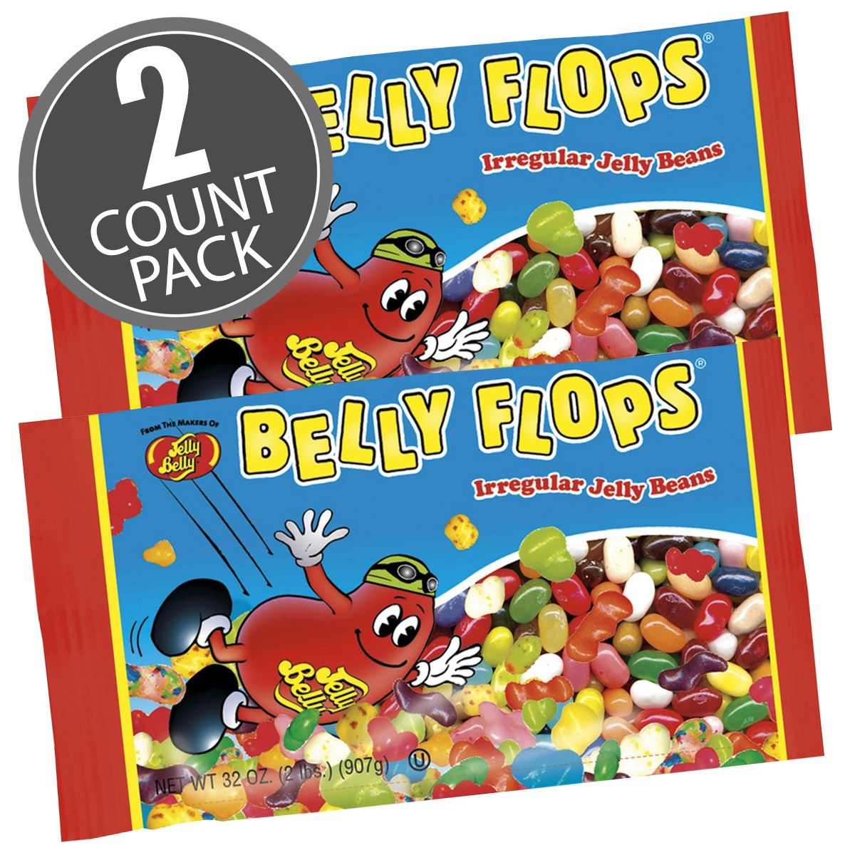 Belly Flops<sup>®</sup> Jelly Beans - 2 lb. Bag - 2 Pack
