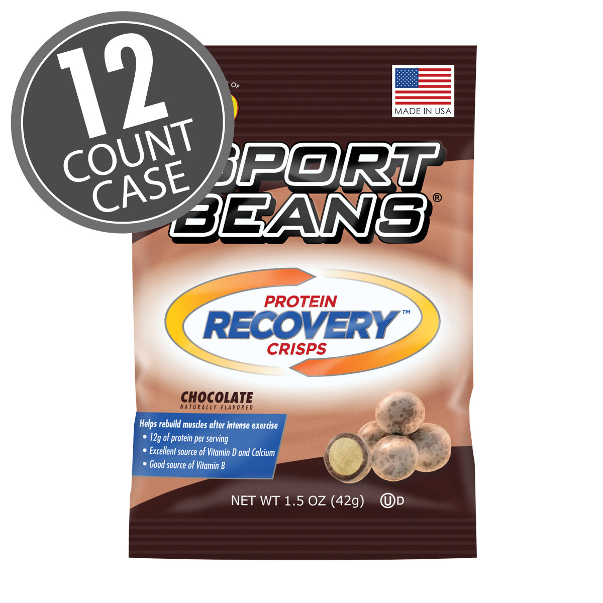 Sport Beans<sup>®</sup> Protein Recovery Crisps™ - Chocolate 12-Pack