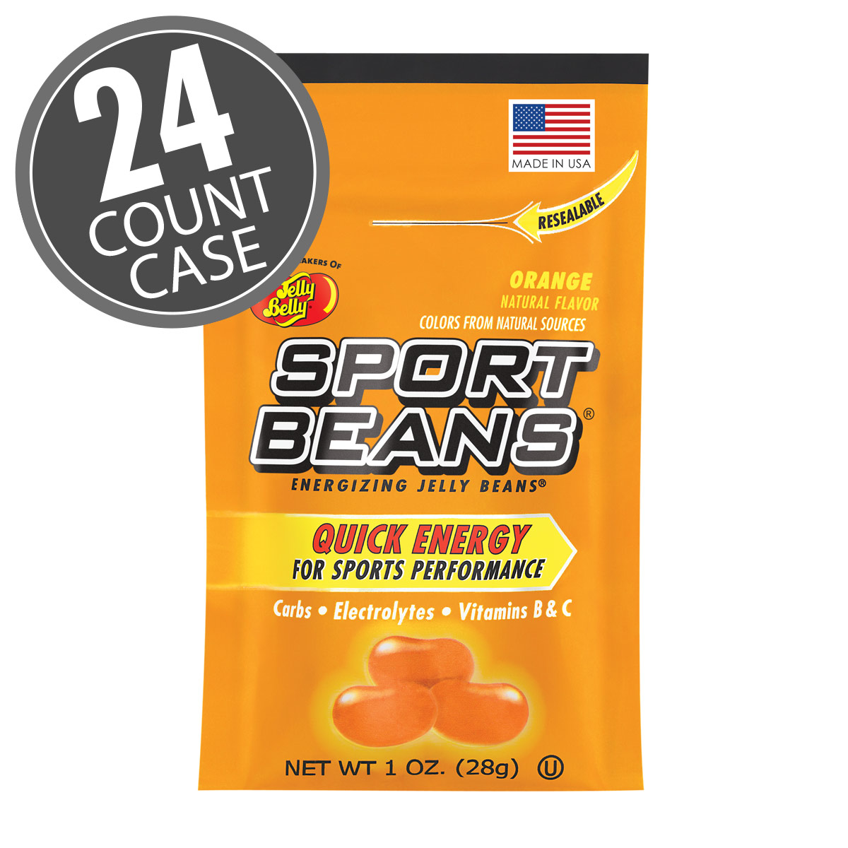Sport Beans<sup>&reg;</sup> Jelly Beans Orange 24-Pack