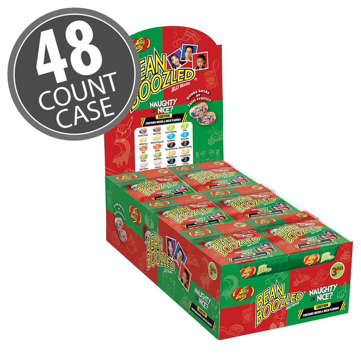 BeanBoozled Naughty or Nice Jelly Beans - 1.6 oz Box - 48 Count Case