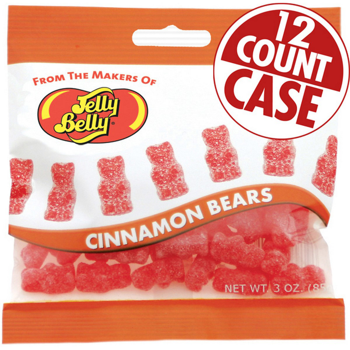 Unbearably HOT Cinnamon Bears - 3 oz Bag - 12 Count Case