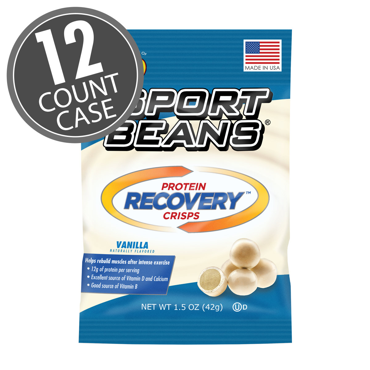 Sport Beans<sup>®</sup> Protein Recovery Crisps™ - Vanilla 12-Pack