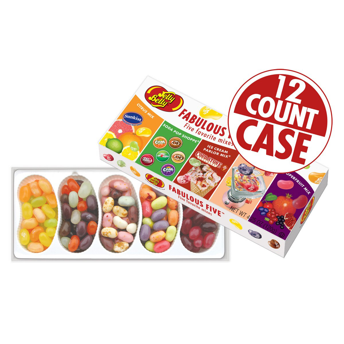 Fabulous Five<sup>&reg;</sup> jelly Bean Gift Box - 12-Count Case
