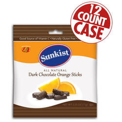 Sunkist® Dark Chocolate Orange Sticks - 2.55 oz Bag -12 Count Case