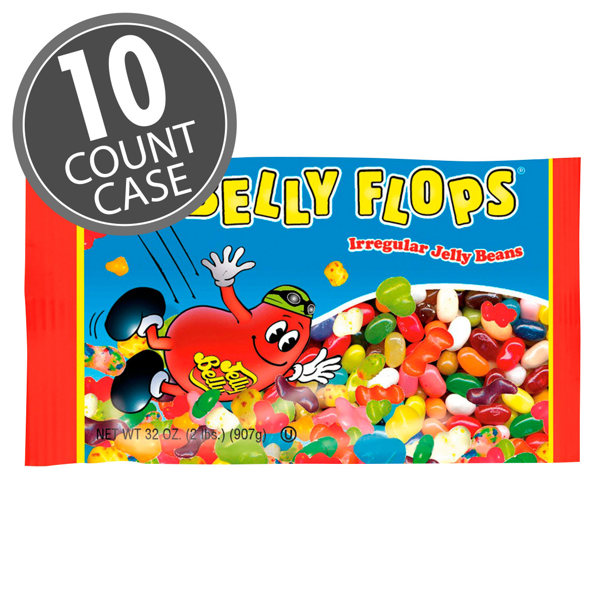 Belly Flops<sup>®</sup> Jelly Beans  - 2 lb. Bag - 10 Count Case
