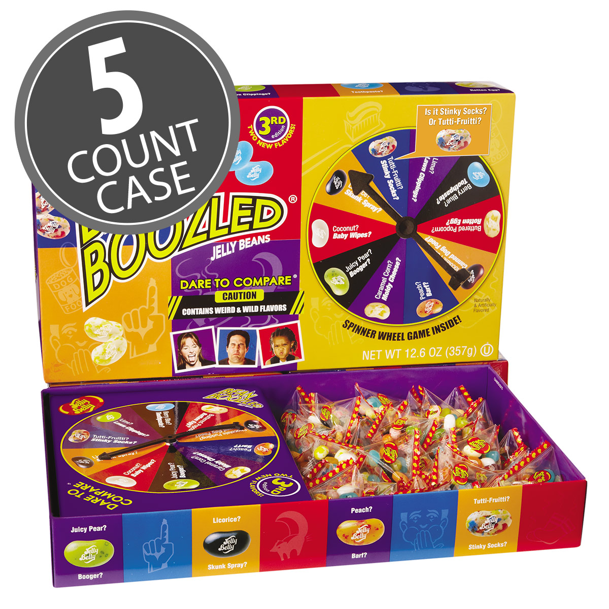 BeanBoozled Jumbo Spinner Jelly Bean Gift Box - 12.6 oz Box - 5 Count Case