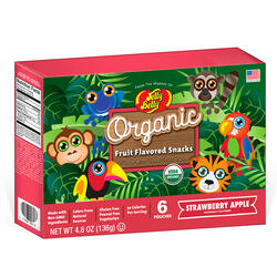 Jelly Belly® Organic Fruit Flavored Snacks - Rainforest Animals Strawberry/Apple - 4.8 oz Box