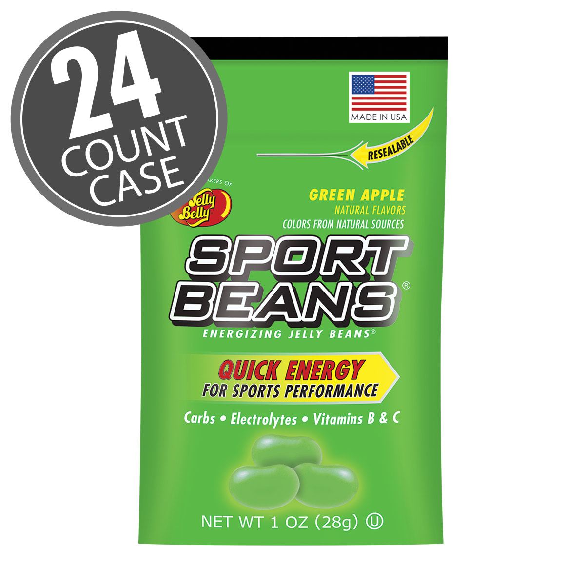 Sport Beans<sup>&reg;</sup> Jelly Beans Green Apple 24-Pack