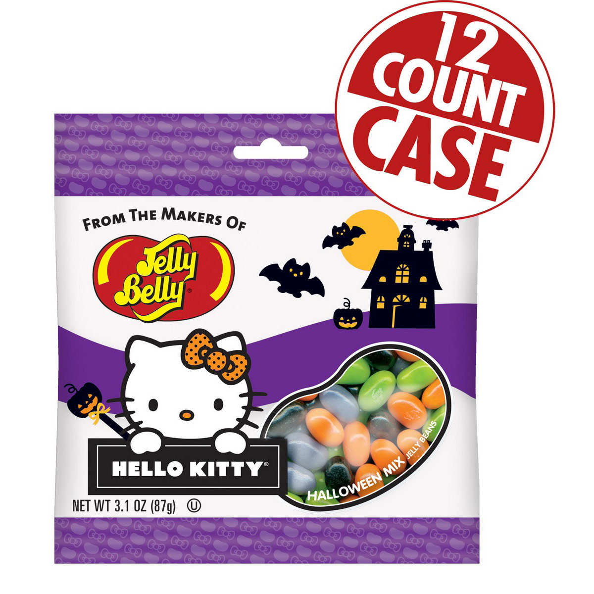 Hello Kitty<sup>®</sup> Halloween Mix Jelly Beans - 3.1 oz Bag - 12 Count Case