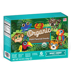 Jelly Belly® Organic Fruit Flavored Snacks - Rainforest Animals Berry Cherry - 4.8 oz Box