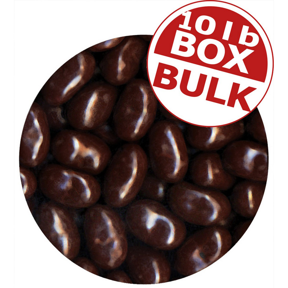 Jelly Bean Chocolate Dips<sup>&reg;</sup> - Raspberry - 10 lbs bulk