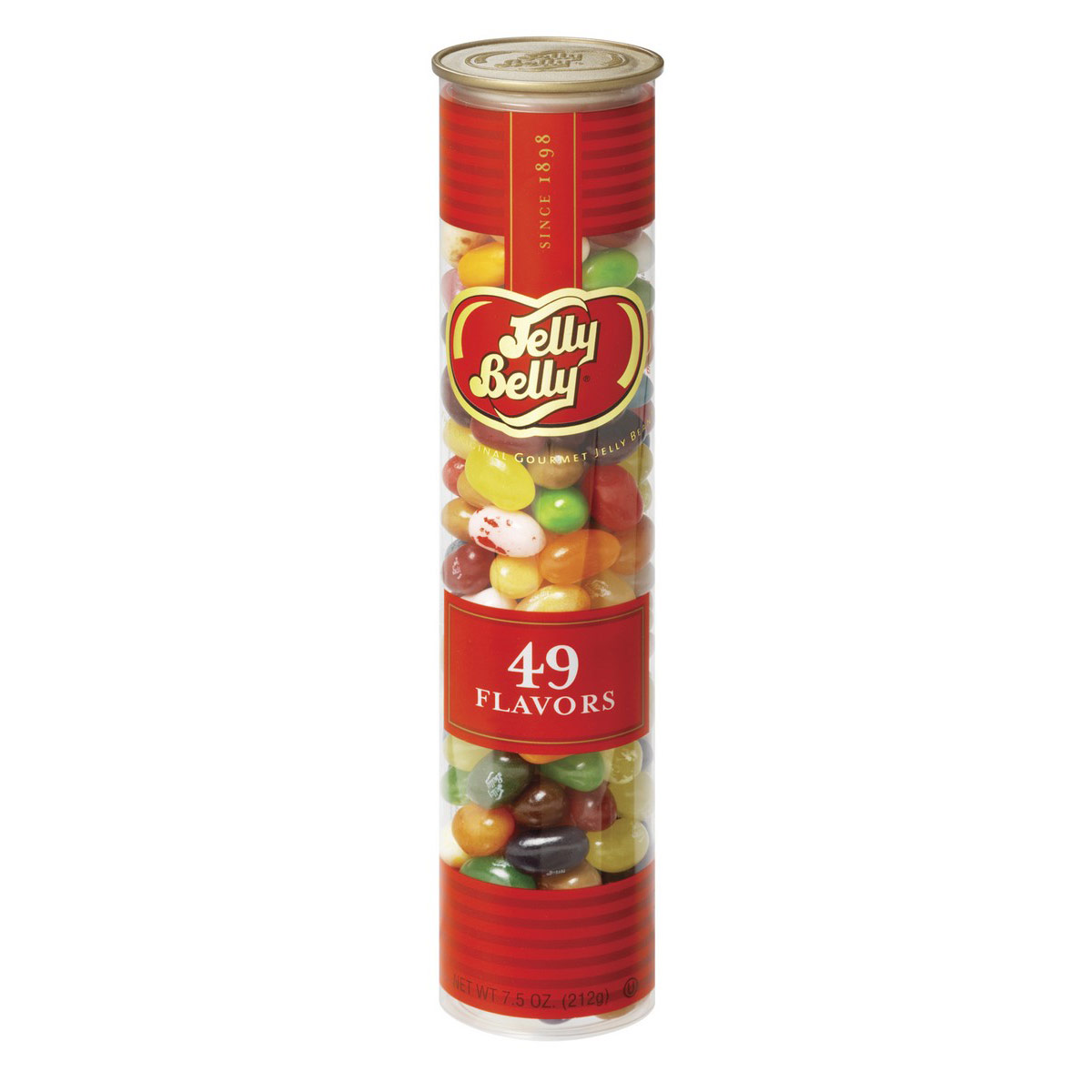 49 Assorted Jelly Bean Flavors - 7.5 oz Clear Classics Tube