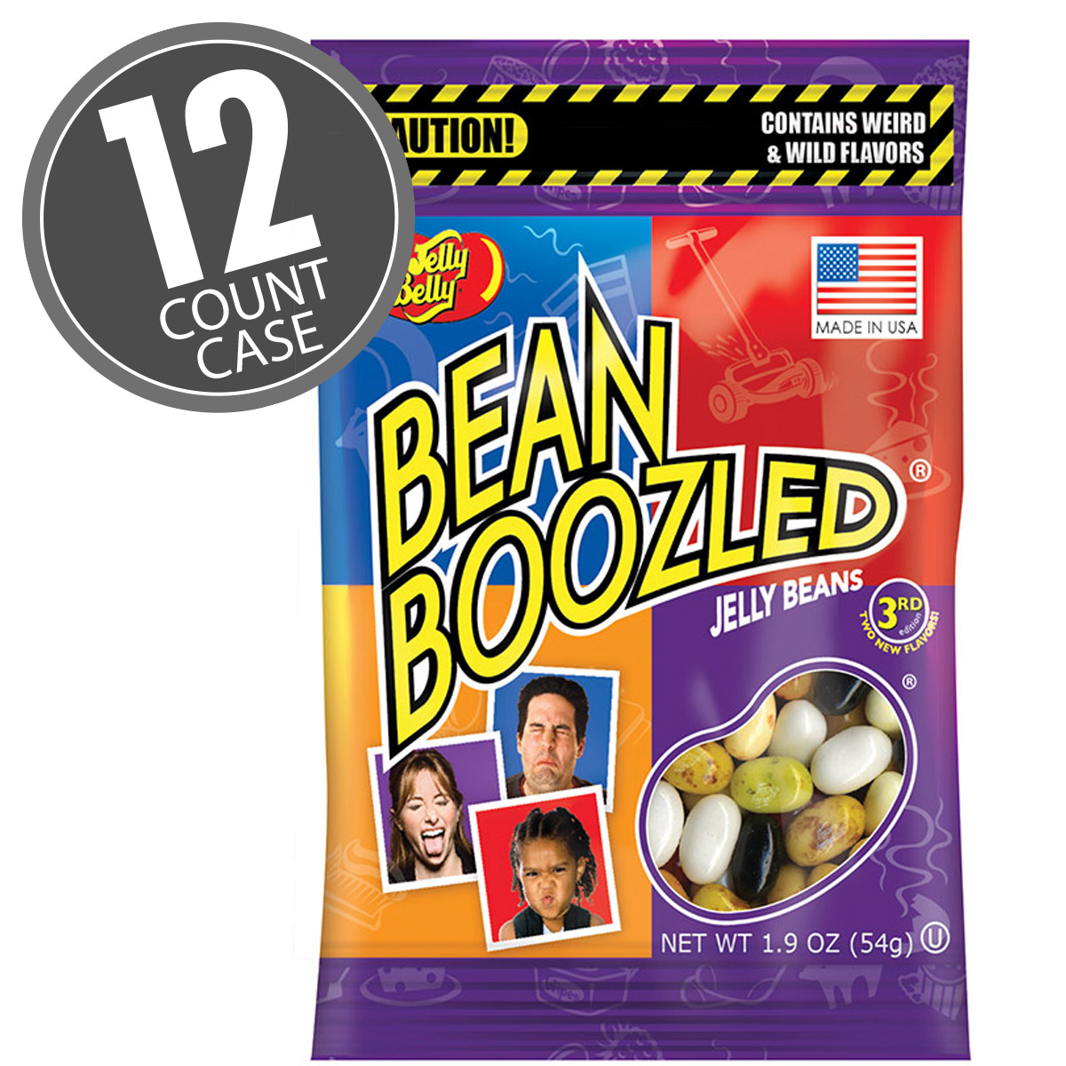 BeanBoozled Jelly Beans 1.9 oz bag - 12 Count Case