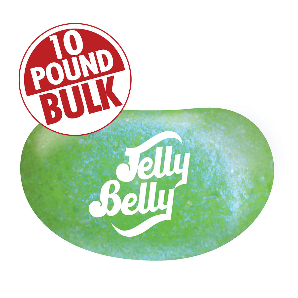 Jewel Sour Apple Jelly Beans - 10 lb Bulk Case