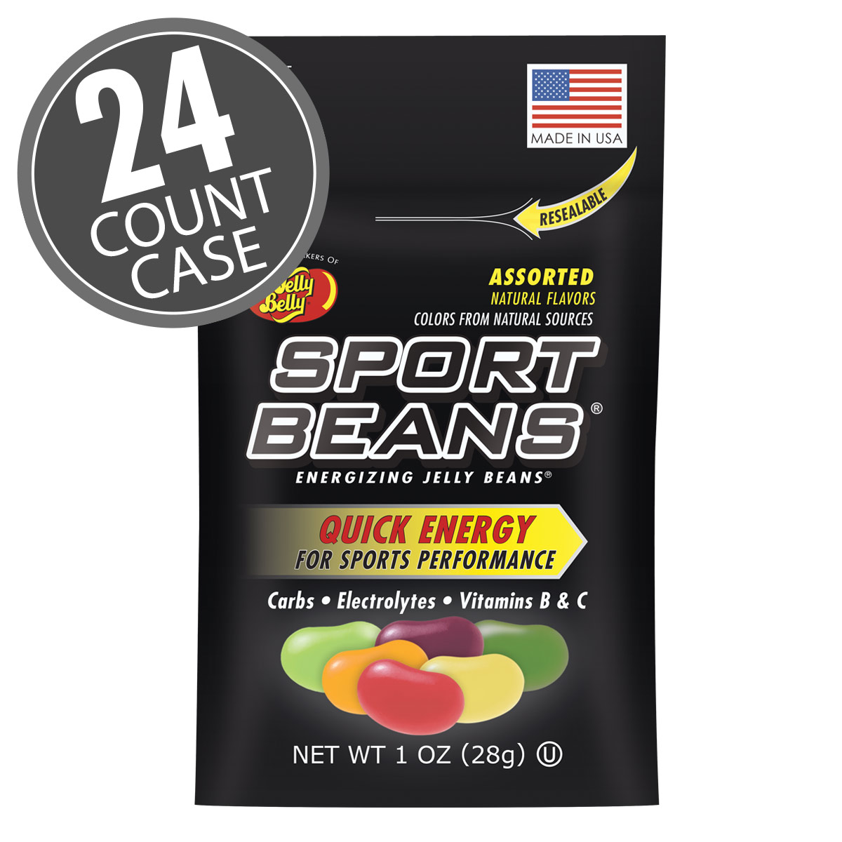 Sport Beans<sup>®</sup> Jelly Beans Assorted Flavors 24-Pack