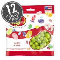 Juicy Pear Jelly Beans - 3.5 oz Bag - 12 Count Case