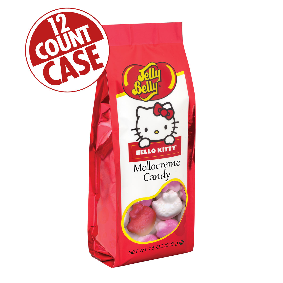 Hello Kitty<sup>&reg;</sup> Mellocreme Candy 7.5 oz Gift Bag - 12 Count Case