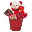 I Love You Valentine Gift Basket with Teddy Bear