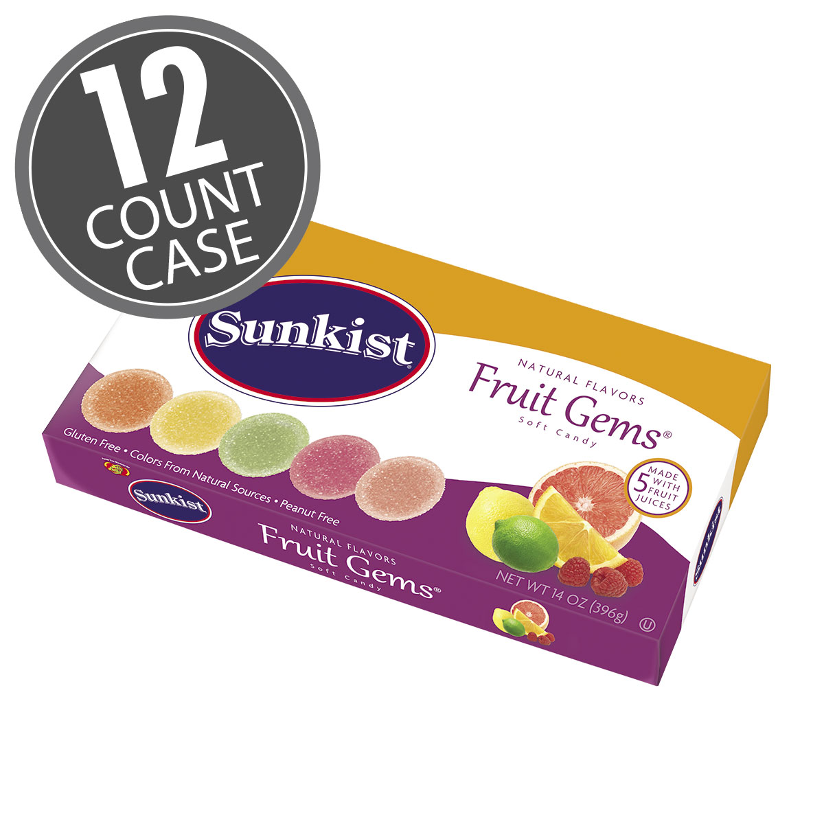 Sunkist® Fruit Gems 14 oz Box  -12 Count Case