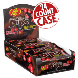 Jelly Bean Chocolate Dips® - Very Cherry - 1.2 oz Bag - 24 Count Case
