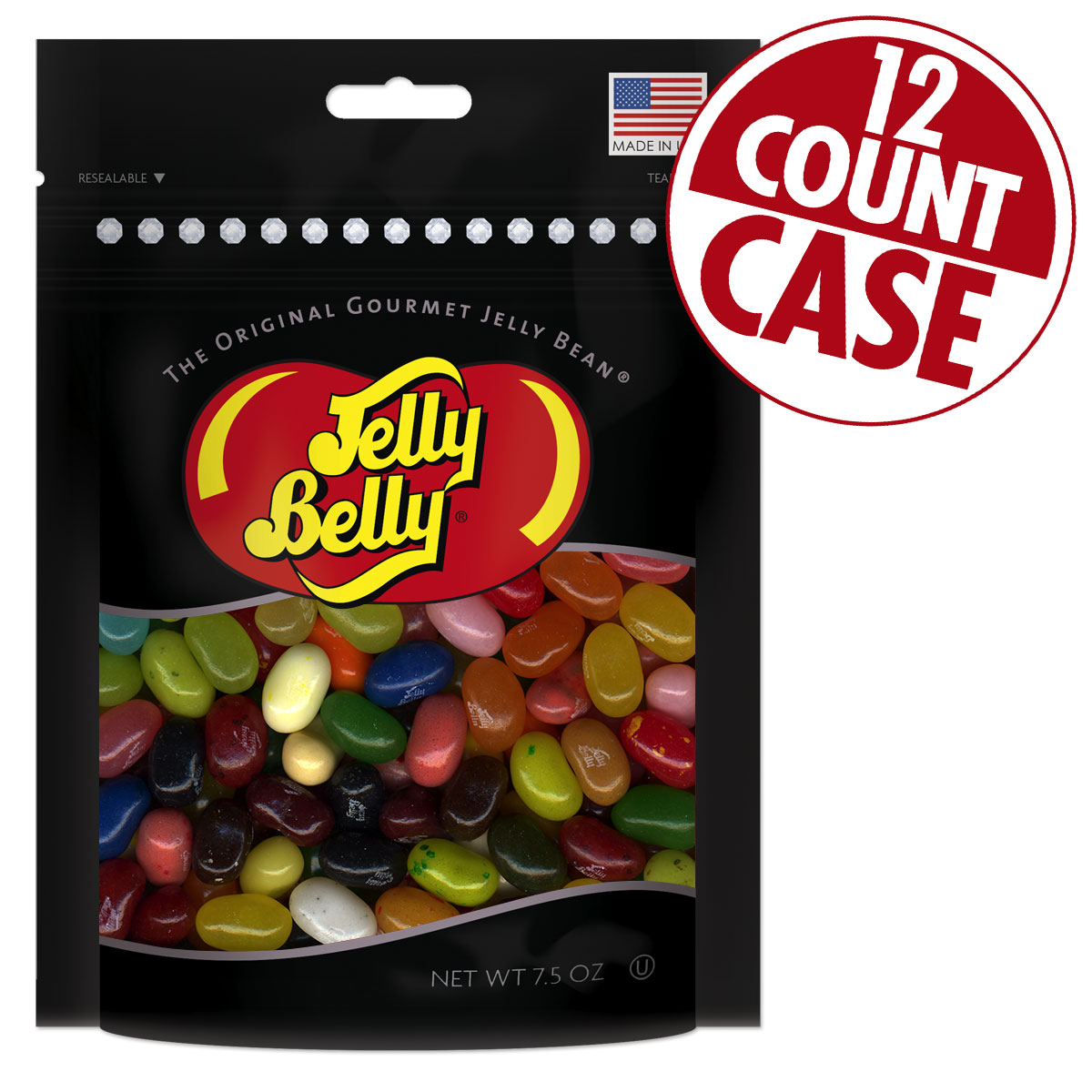 Assorted Jelly Beans Party Bag - 7.5 oz Bag - 12 Count Case