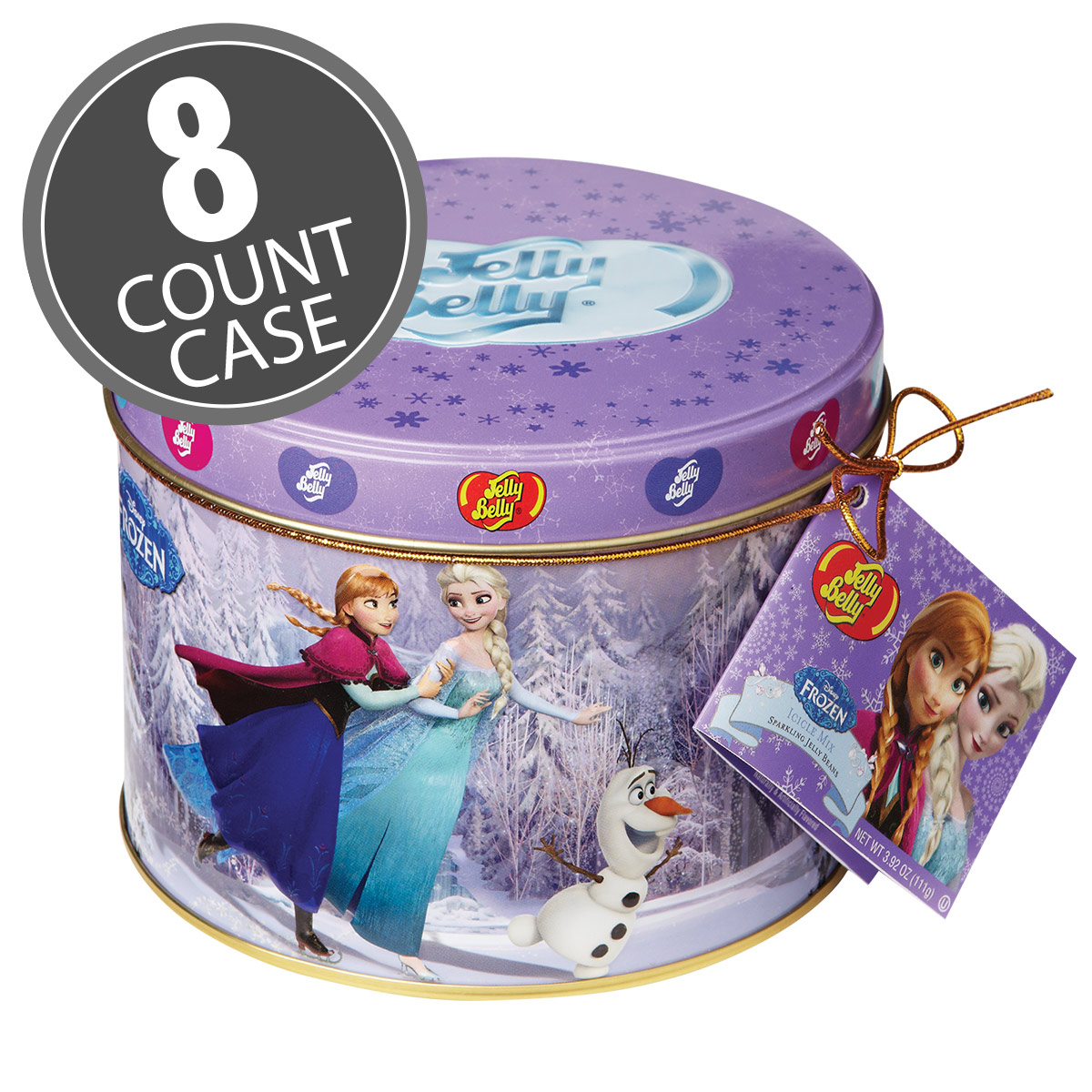 Disney© FROZEN Jelly Beans Gift Tin - 3.92 oz Tin - 8 Count Case
