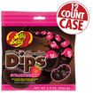 Jelly Bean Chocolate Dips<sup>&reg;</sup> - Strawberry - 2.8 oz Bag - 12 Count Case