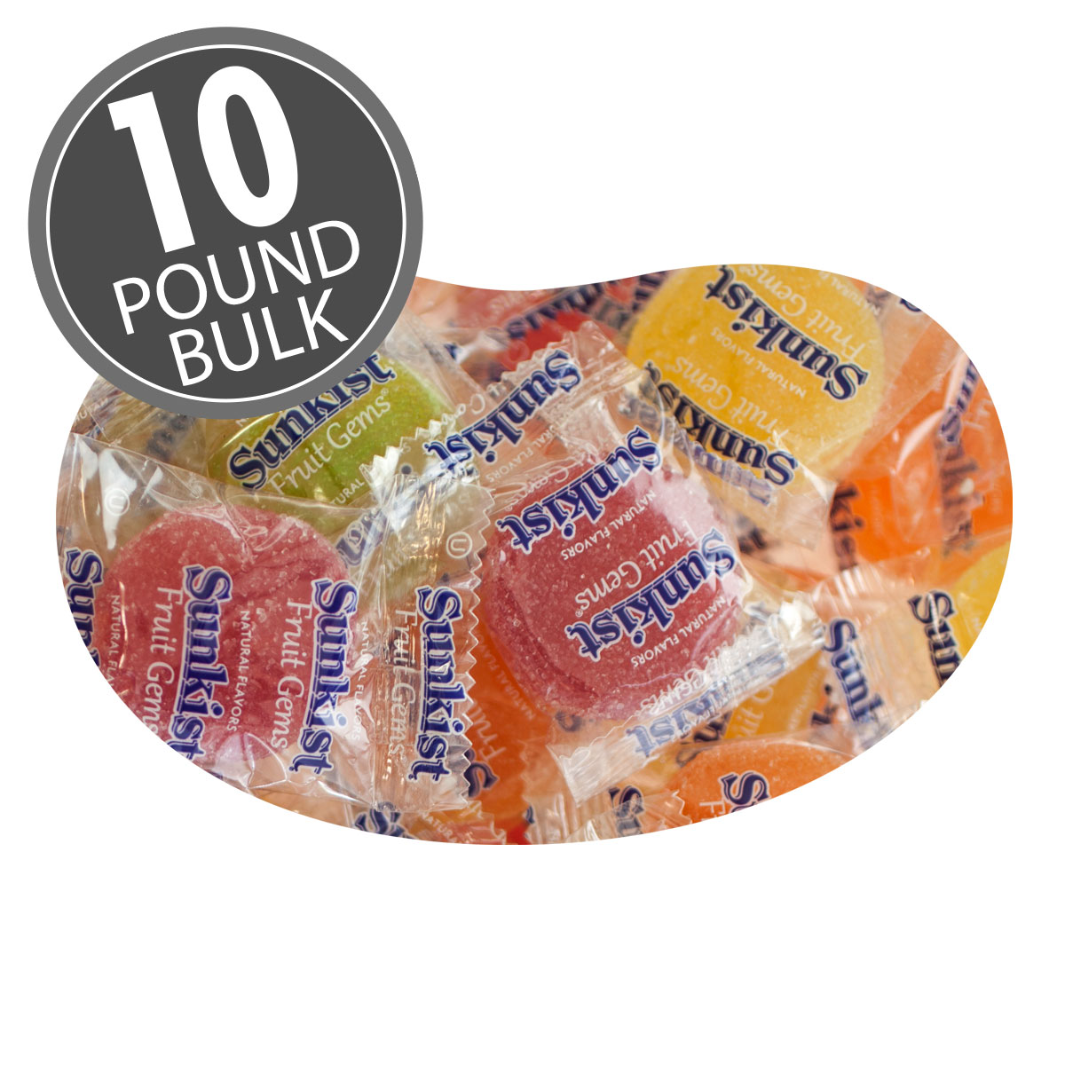 Sunkist® Fruit Gems (Wrapped) - 10 lbs bulk
