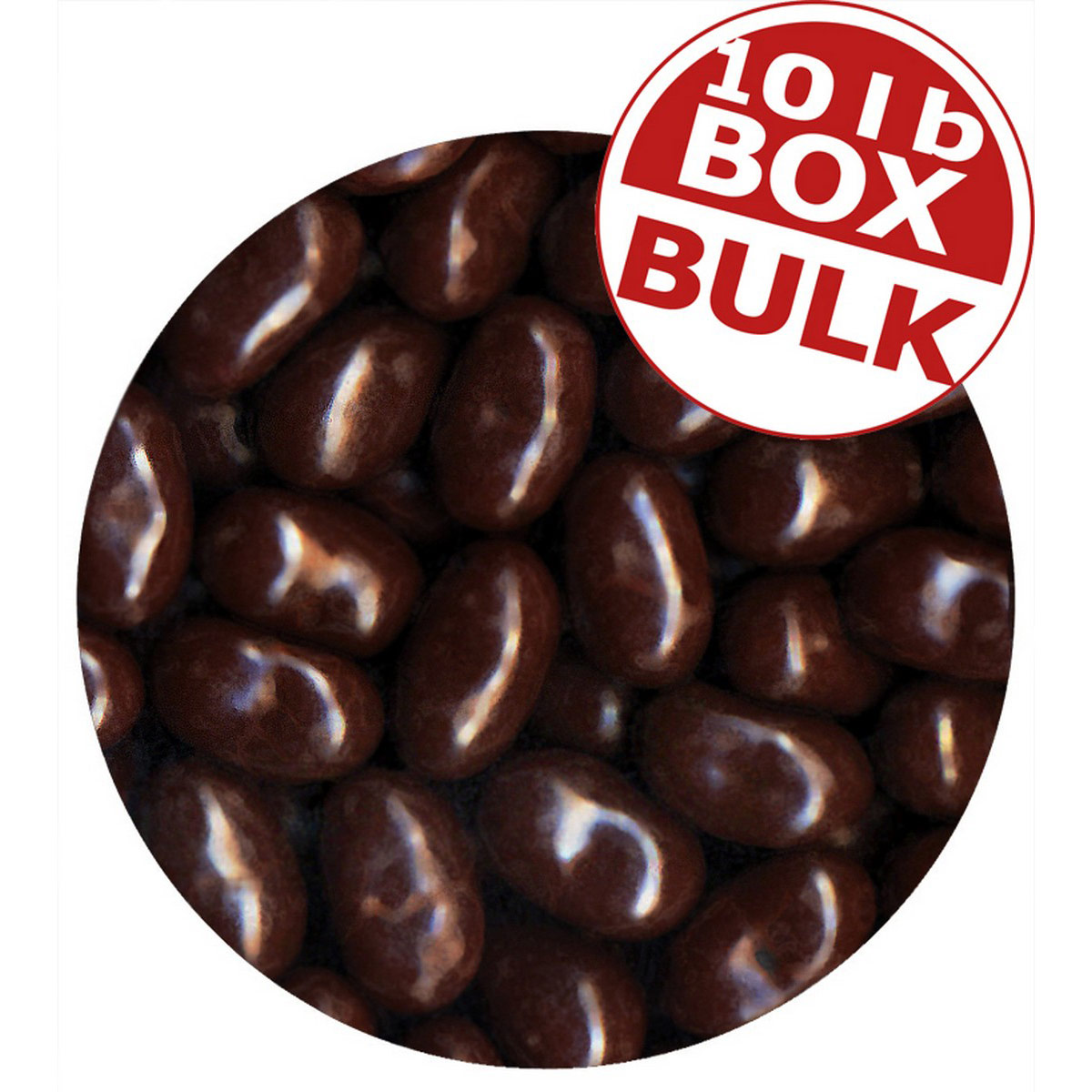 Jelly Bean Chocolate Dips<sup>&reg;</sup> - Orange - 10 lbs bulk