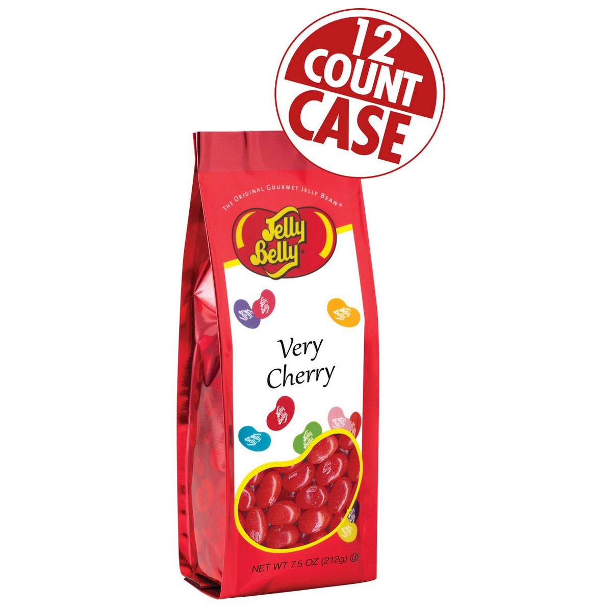 Very Cherry Jelly Beans 7.5 oz Gift Bags - 12 Count Case