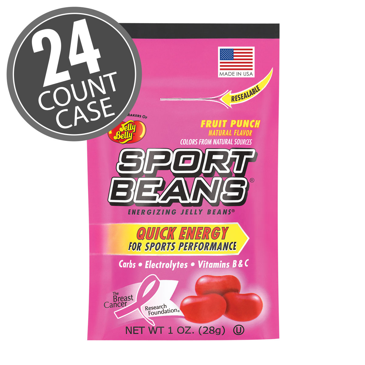 Sport Beans<sup>&reg;</sup> Jelly Beans Fruit Punch 24-Pack