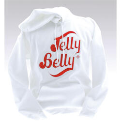 Jelly Belly White Hooded Sweatshirt – Adult Small
