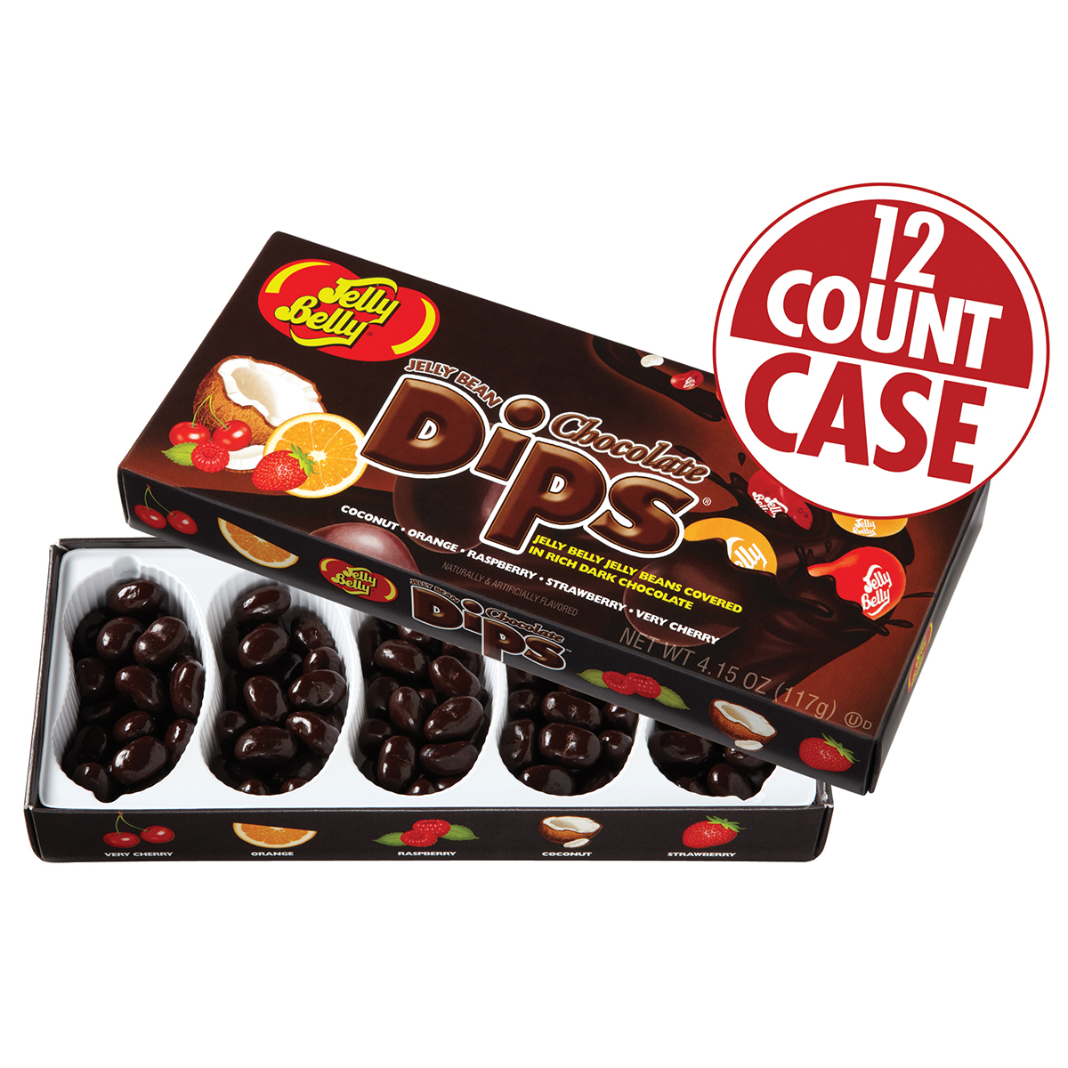 Jelly Bean Chocolate Dips<sup>&reg;</sup> 5-Flavor Gift Box - 12-Count Case