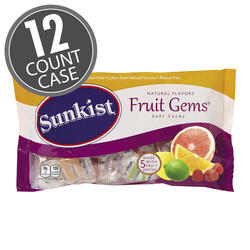 Sunkist® Fruit Gems® (Wrapped) - 10.5 oz Bags - 12-Count Case