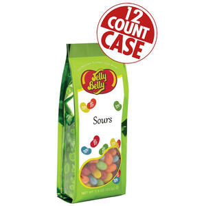 Sours Jelly Beans - 7.5 oz Gift Bag - 12-Count Case