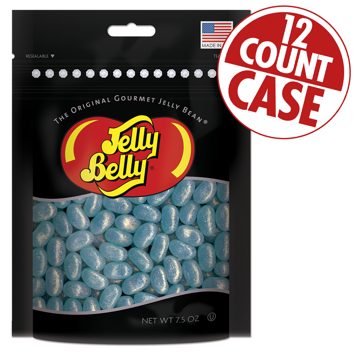 Jewel Berry Blue Jelly Beans Party Bag - 7.5 oz Bag - 12 Count Case