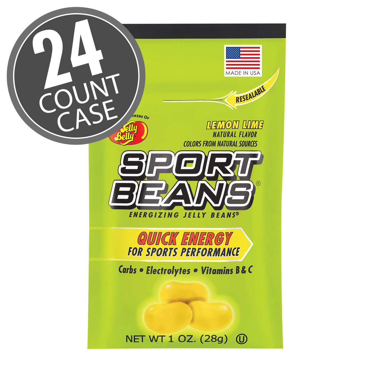Sport Beans<sup>&reg;</sup> Jelly Beans Lemon Lime 24-Pack