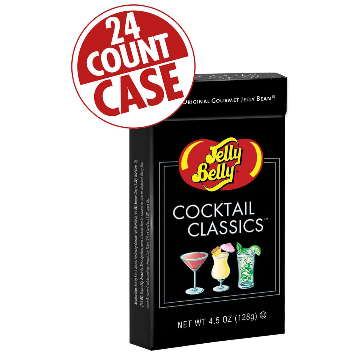 Cocktail Classics<sup>®</sup> Jelly Beans Mix - 4.5 oz Flip-Top Boxes - 24-Count Case