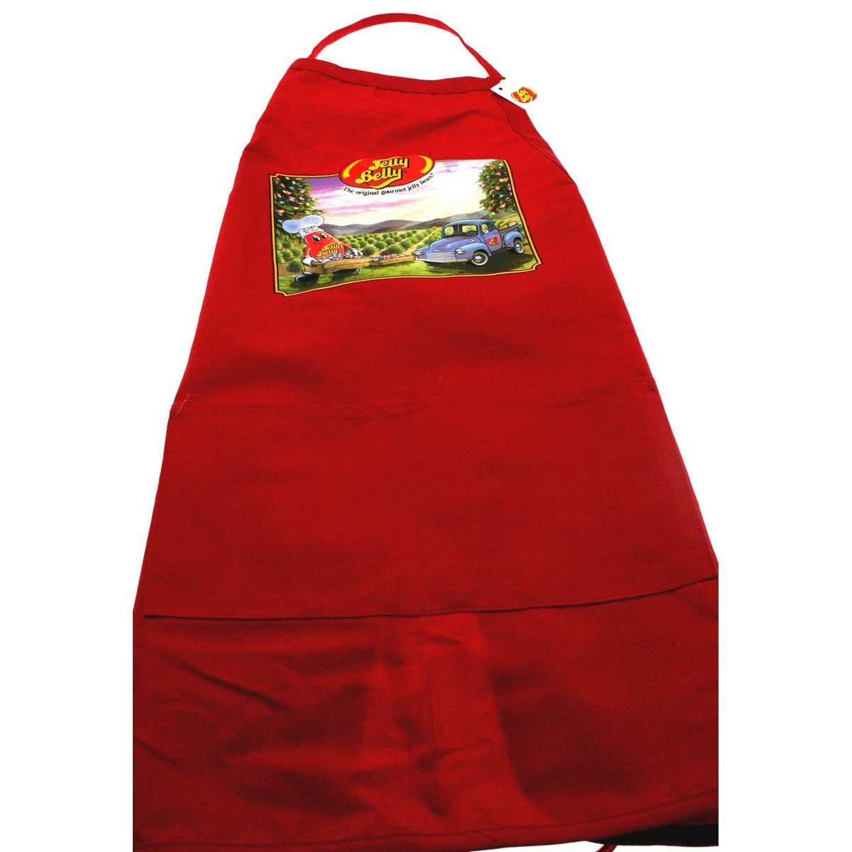 Mr. Jelly Belly Apron - Red