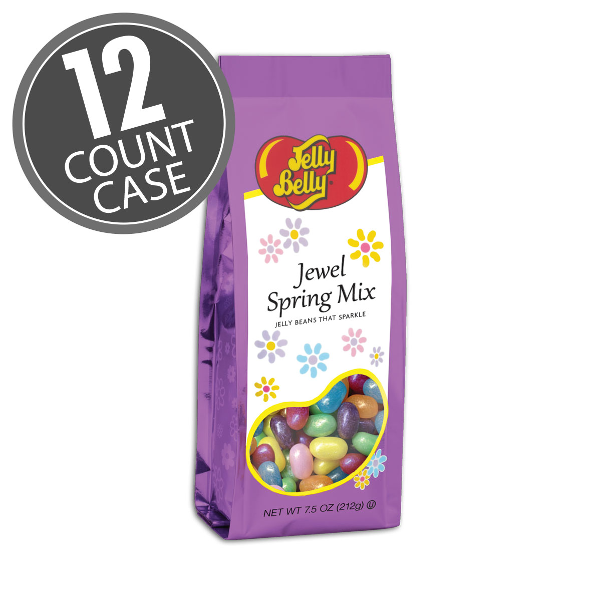 Jewel Spring Mix Jelly Bean  - 7.5 oz Gift Bag - 12 Count Case