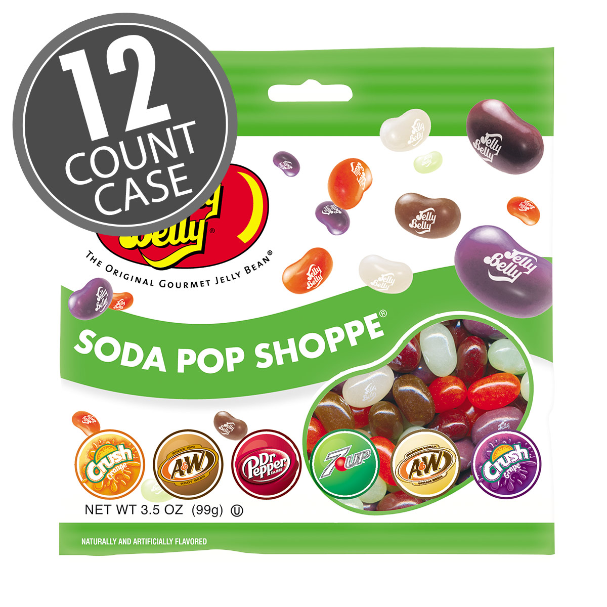Soda Pop Shoppe® Jelly Beans - 3.5 oz Bag - 12 Count Case