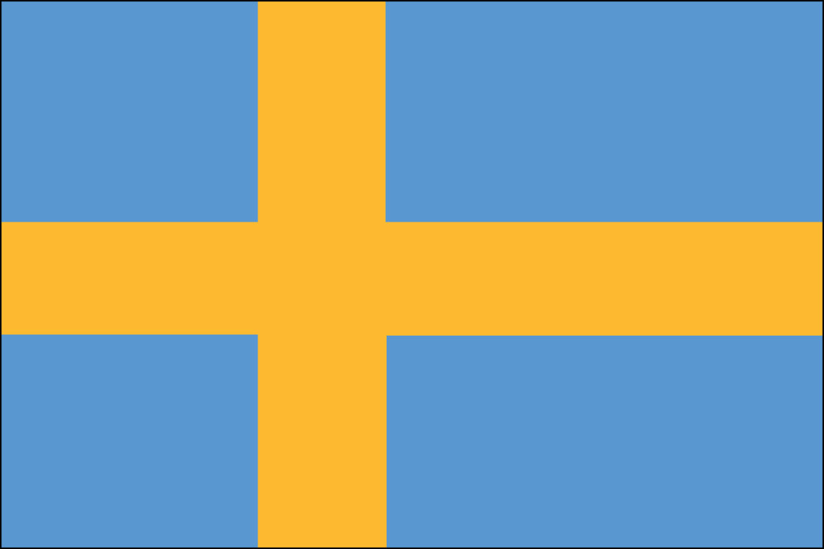 Swedish Flag. Link Clicks to Swedish Jelly Belly Site