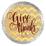 Thanksgiving Gold and Silver Printables