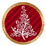 Merry Christmas Red and Gold Printables
