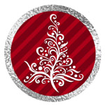 Merry Christmas Red and Silver Printables