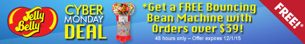 Get a FREE Jelly Belly Bouncing Bean Machine with Orders Over $39